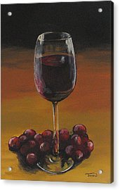 Red Wine And Red Grapes Acrylic Print by Torrie Smiley