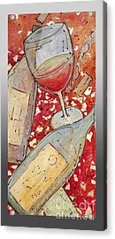 Red Wine I Acrylic Print by Cynthia Parsons