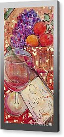 Red Wine II Acrylic Print by Cynthia Parsons