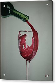 Acrylic Print featuring the painting Red Wine by Justin Lee Williams