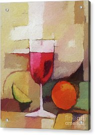 Red Wine Acrylic Print by Lutz Baar