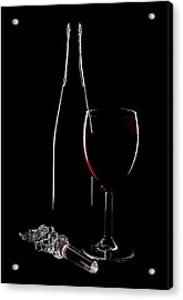 Red Wine Acrylic Print by Marcia Colelli