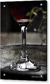 Red Wine Acrylic Print by Mythja  Photography