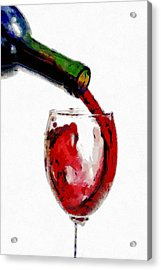 Red Wine Pouring Acrylic Print