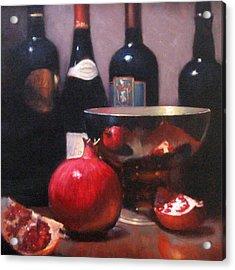 Red Wine With Pomegranates Acrylic Print by Takayuki Harada