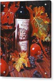 Red Wine With Red Pomergranates Acrylic Print by Takayuki Harada