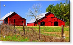 Red Barns Of The Past Alabama Acrylic Print