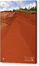 Reddish Sand At Waimea Canyon Acrylic Print