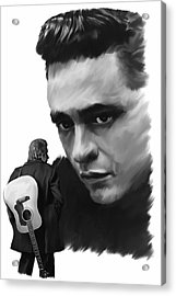 Redemption Jonny Cash Acrylic Print by Iconic Images Art Gallery David Pucciarelli