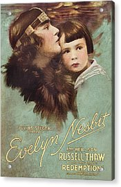 Redemption, L-r Evelyn Nesbit, Russell Acrylic Print by Everett