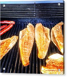 Redfish On The Grill Don't Hate!! Acrylic Print