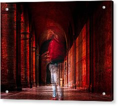 Redfluid Acrylic Print by Carmine Chiriac??