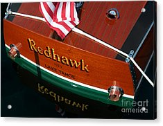 Acrylic Print featuring the photograph Redhawk by Vinnie Oakes