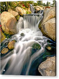 Acrylic Print featuring the photograph Redhawk Waterfall by Robert  Aycock
