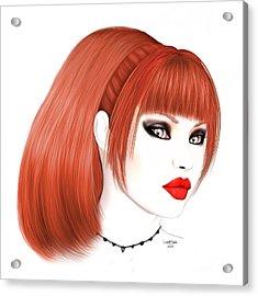 Redhead Cassia Acrylic Print by Renate Janssen