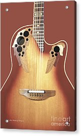 Redish-brown Guitar On Redish-brown Background Acrylic Print