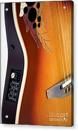 Redish-brown Guitar Acrylic Print