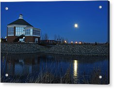 Redlin Art Center In Full Moon Acrylic Print by Dung Ma