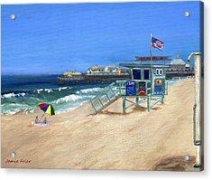Redondo Beach Lifeguard  Acrylic Print