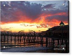 Redondo Pier Sunset Acrylic Print
