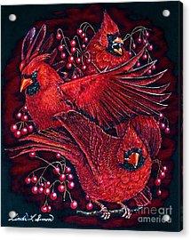 Reds Acrylic Print by Linda Simon