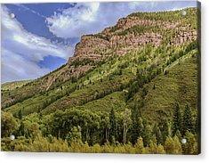 Redstone Cliffs At Redstone Colorado Acrylic Print by Karen Stephenson