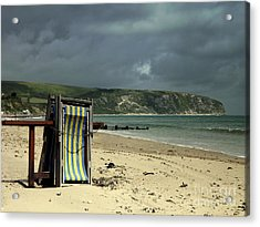 Redundant Deck Chairs Acrylic Print by Linsey Williams