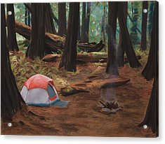 Redwood Campsite Acrylic Print by Christopher Reid
