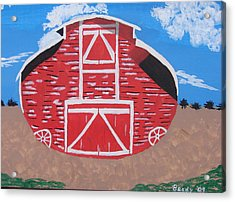 Redwood Farm Barn Acrylic Print