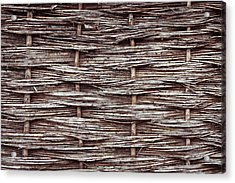 Reed Fence Acrylic Print