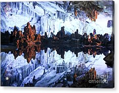 Reed Flute Cave Guillin China Acrylic Print by Thomas Marchessault