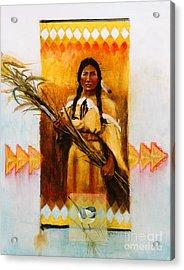 Reed Gatherer Acrylic Print