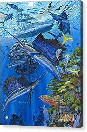 Reef Frenzy Off00141 Acrylic Print by Carey Chen