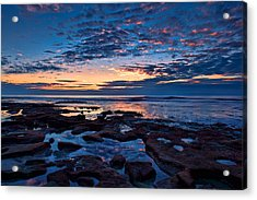 Reef Pool Sunset Reflections Acrylic Print