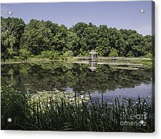 Refection In The Pond Acrylic Print