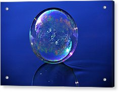 Refection Of My World Acrylic Print by Terry Cosgrave