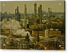 Refineries In Houston Texas Acrylic Print by Kirsten Giving