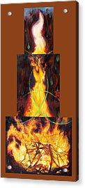 Refiners Fire Acrylic Print by Anne Cameron Cutri
