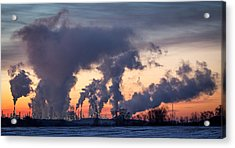 Acrylic Print featuring the photograph Flint Hills Resources Pine Bend Refinery by Patti Deters