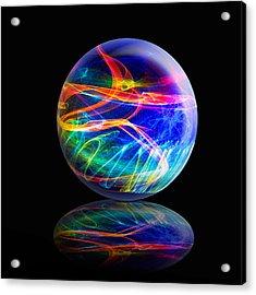 Reflected Flame Globe Acrylic Print