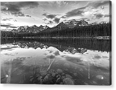 Reflected Mountain Acrylic Print by Jon Glaser