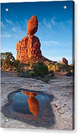 Reflected Rock Acrylic Print