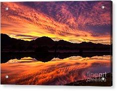 Reflected Sunrise Acrylic Print by Robert Bales