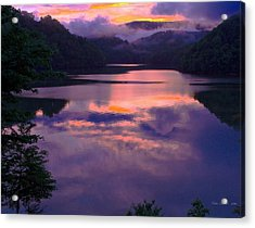 Reflected Sunset Acrylic Print by Tom Culver