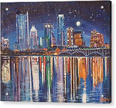 Reflecting Austin Acrylic Print by Suzanne King