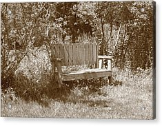 Reflecting Bench Acrylic Print