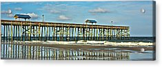 Reflection Pier Acrylic Print by Paula Porterfield-Izzo