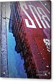 Reflecting On City Life Acrylic Print by James Aiken