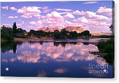Reflecting On Green River Acrylic Print