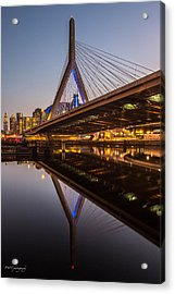 Reflecting On Zakim Acrylic Print